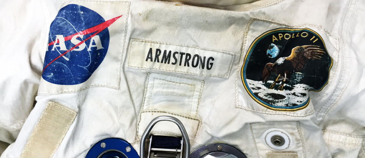 Neil Armstrong Apollo spacesuit chest